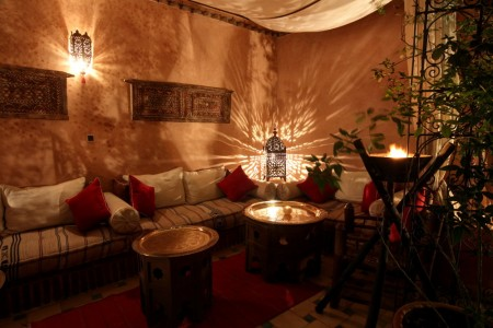 Tent ambiance terrace Marrakech Riad Jona Morocco