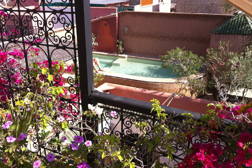 Riad Jona Bathing under the Sun in the Pool in Marrakech